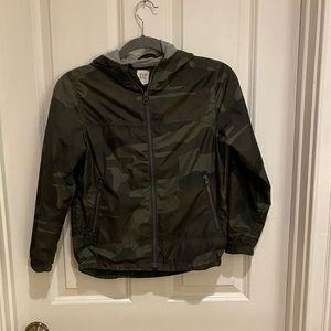 GAP Boys Camo Jersey Lined Rain jacket